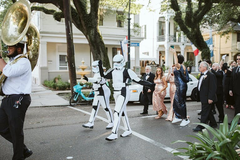 Second Line Parade With Storm Troopers   PartySlate