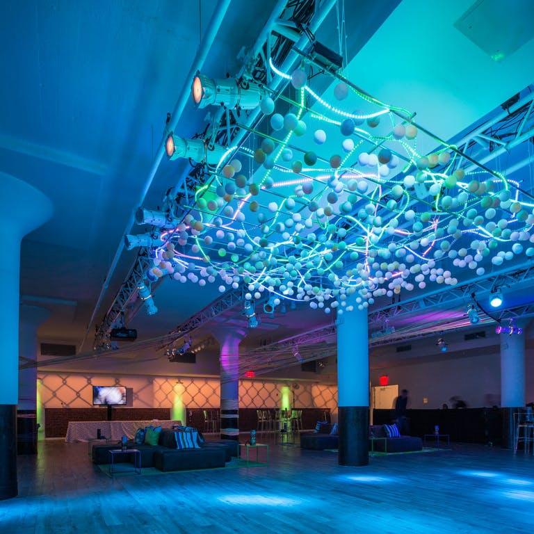 Neon Party With LED Ceiling Installation   PartySlate
