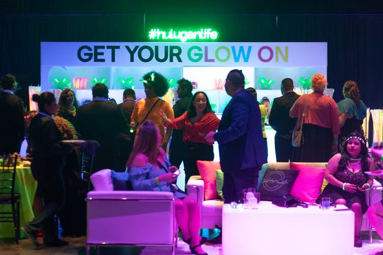 Glow-Themed Hulu Party With Glow Paint Activities   PartySlate