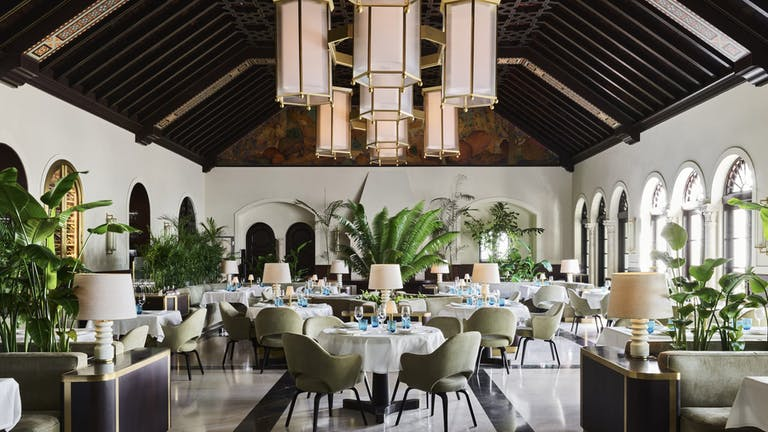 Dining area at Miami beach wedding venue | PartySlate