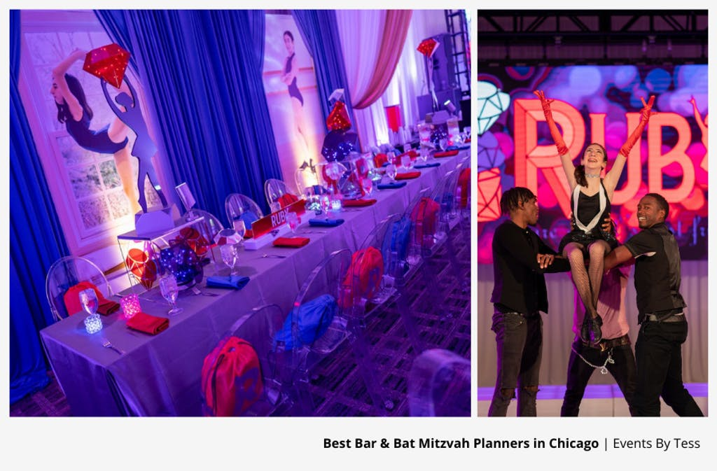 Ruby-Themed Bat Mitzvah Party Planned By Events By Tess | PartySlate