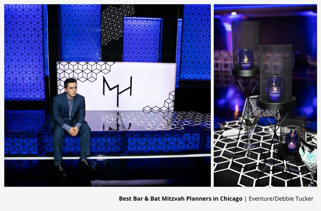 Geometric-Themed Bar Mitzvah Party Planned by Eventure/Debbie Tucker | PartySlate