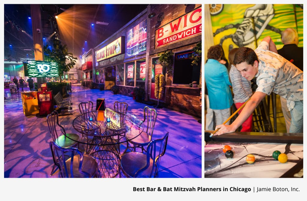 Neon and Urban-Themed Chicago Bar Mitzvah Party Planned by Jamie Boton, Inc. | PartySlate