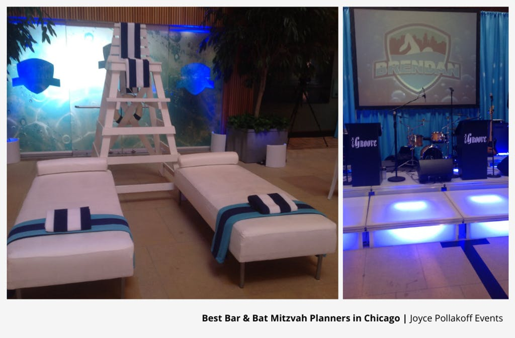 Swim-Themed Chicago Bar Mitzvah Party Planned By Joyce Pollakoff Events | PartySlate