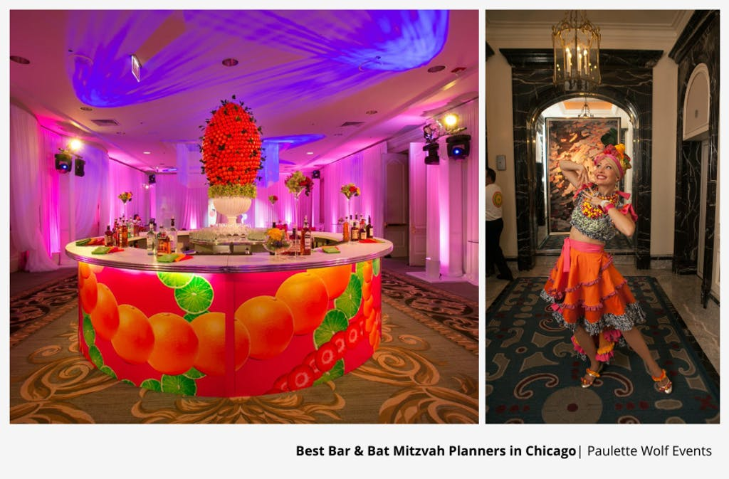 Tropical-Themed Chicago Bat Mitzvah Party Planned By Paulette Wolf Events | PartySlate