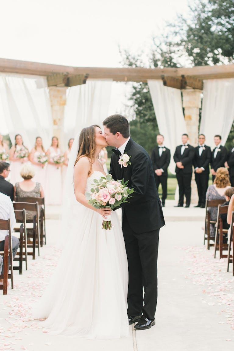 Wedding Ceremony at Moffitt Oaks, an Outdoor Wedding Venue in Houston | PartySlate