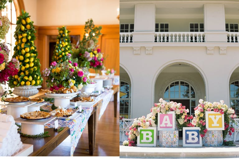 Baby Shower With Lemon Décor and Baby Block Photo Op   PartySlate