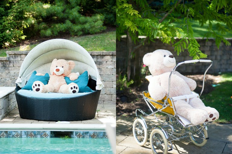 Outdoor Baby Shower With Teddy Bear Décor   PartySlate