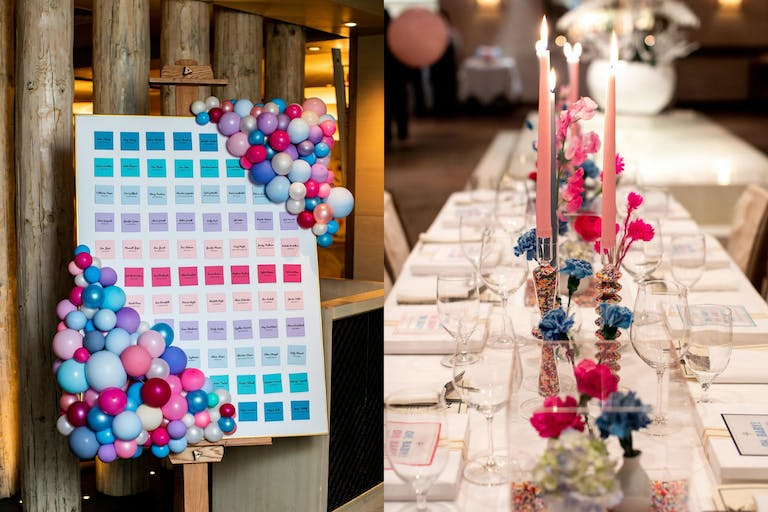 Sprinkle-Themed Baby Shower With Pink, Blue, and Purple Décor   PartySlate