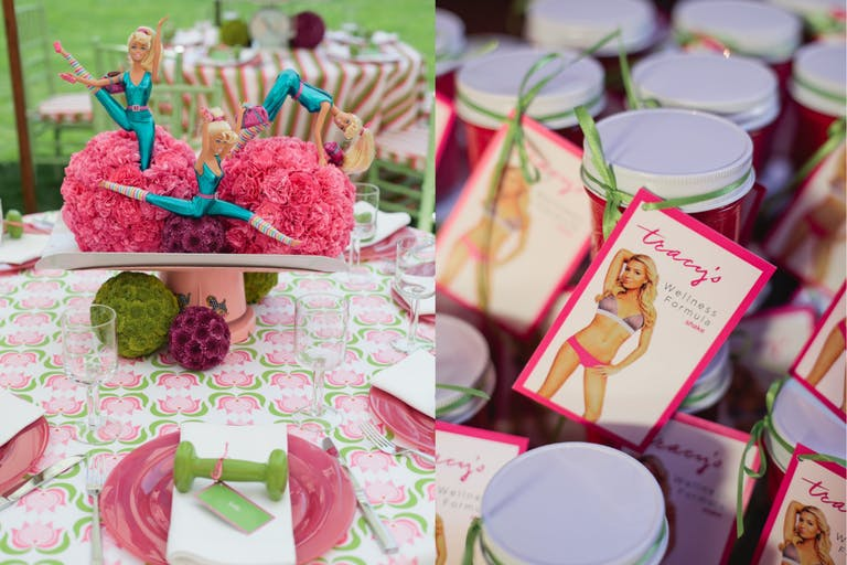Barbie Fitness-Themed Baby Shower   PartySlate
