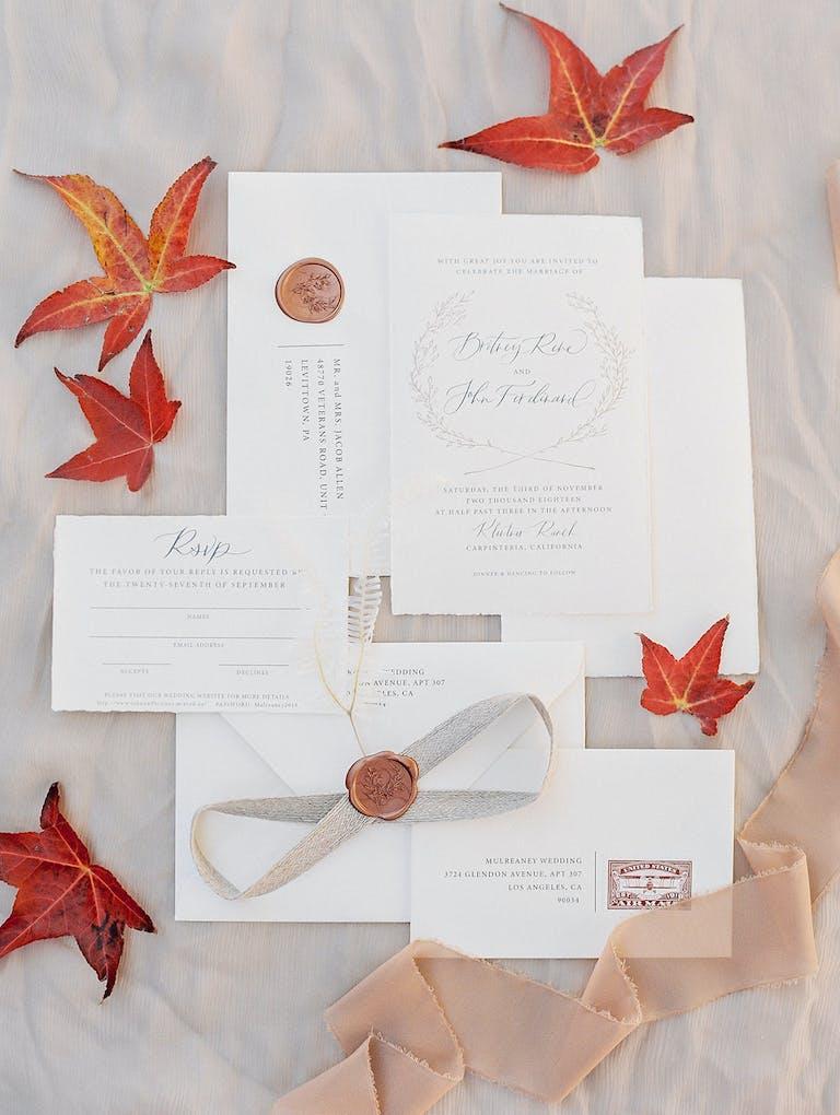 Al Fresco Autumn Wedding
