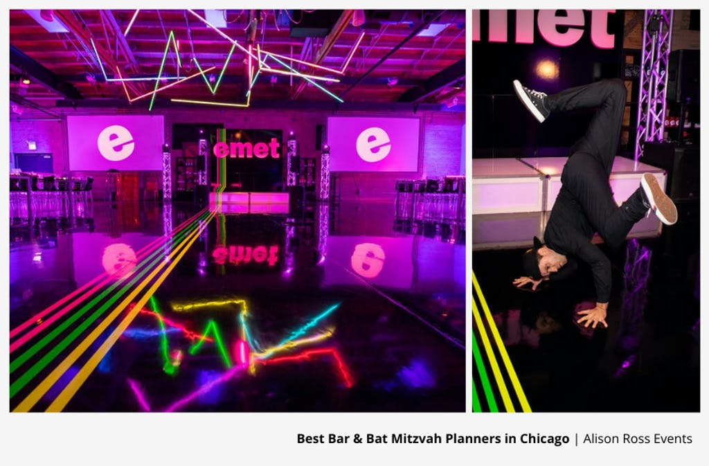 Neon Bar Mitzvah Party Planned by Alison Ross Events | PartySlate