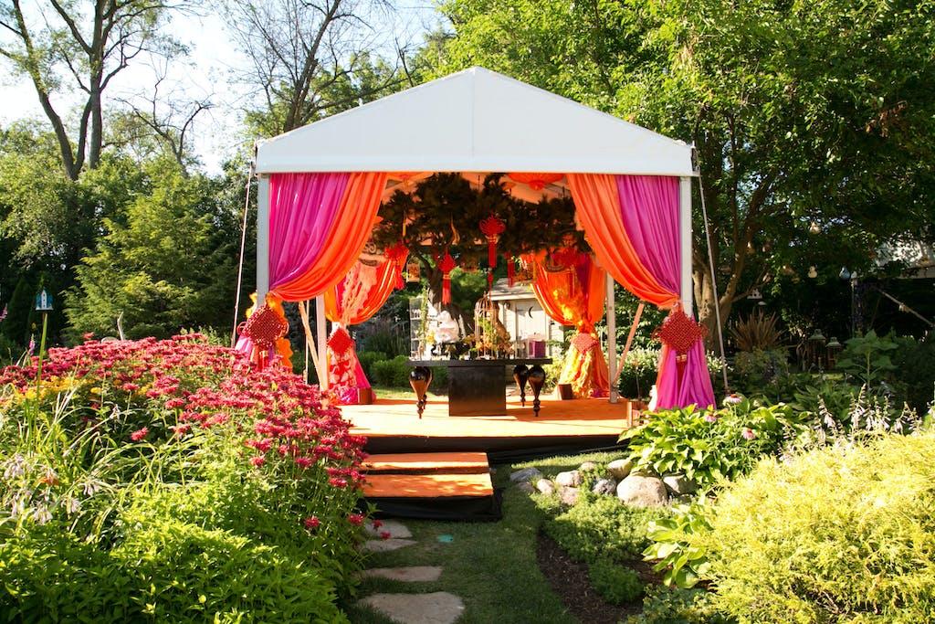 COLORFUL TENTED GARDEN WEDDING
