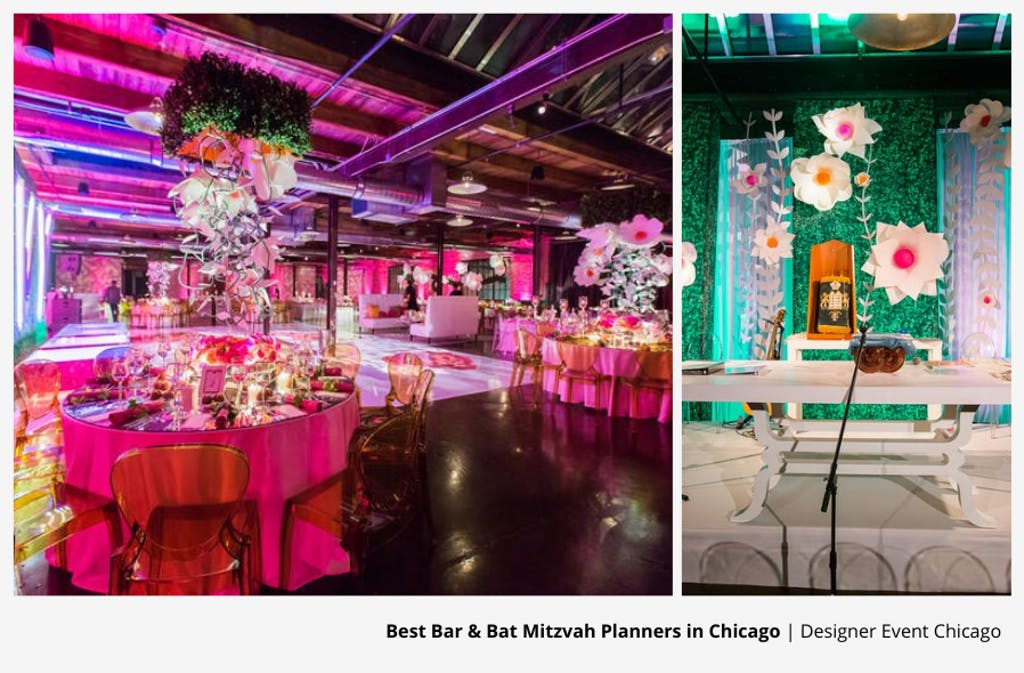 Ivy-Themed Bat Mitzvah Party Planned by Designer Event Chicago | PartySlate