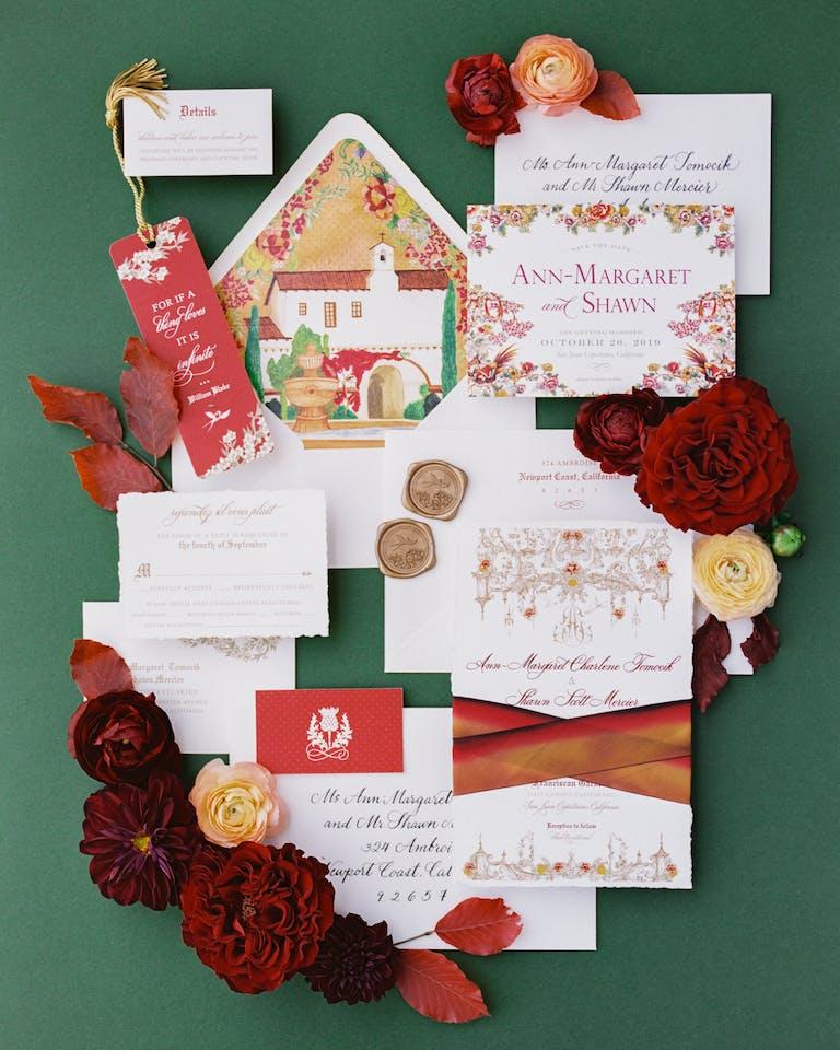 Fall Inspired Wedding at Franciscan Gardens