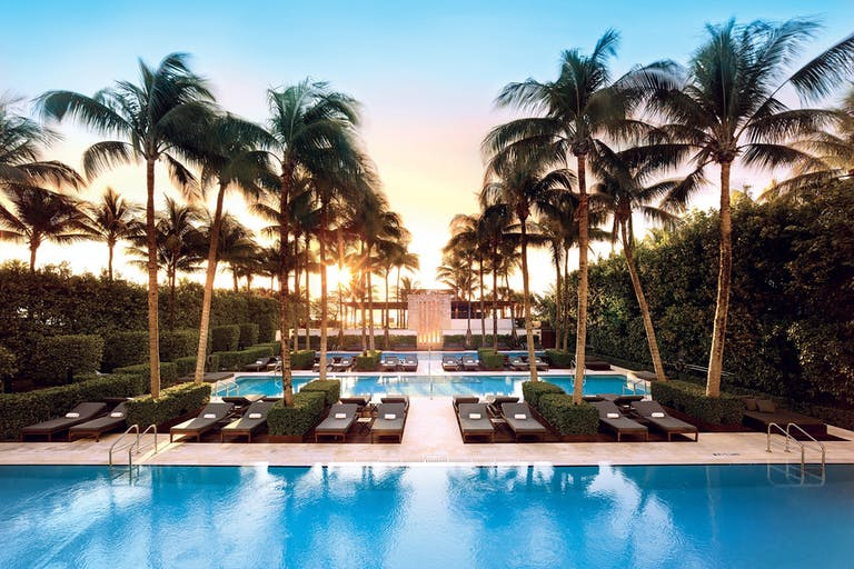 Large pool at a beach wedding venue in Miami | PartySlate