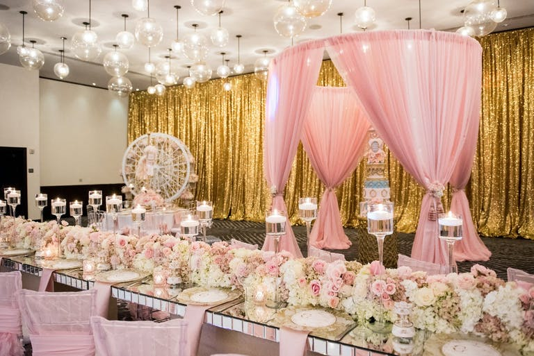 Carousel-Themed Baby Shower in Pink   PartySlate