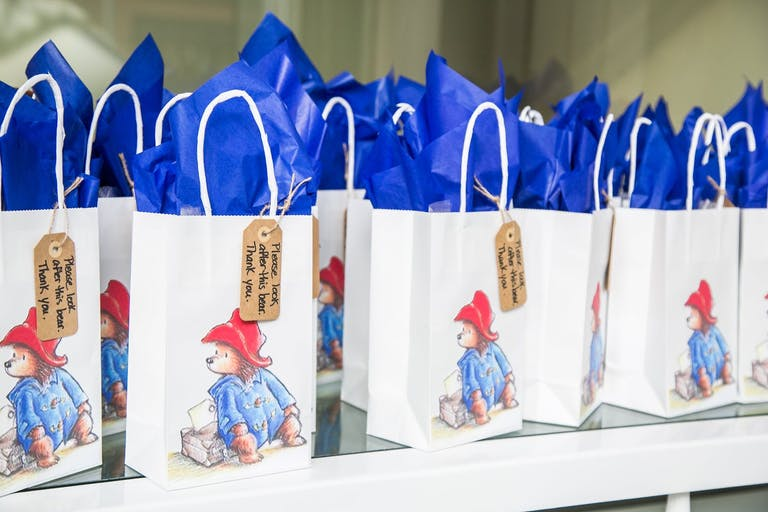 Paddington Beart-Themed Party Favor Bags for Baby Shower   PartySlate