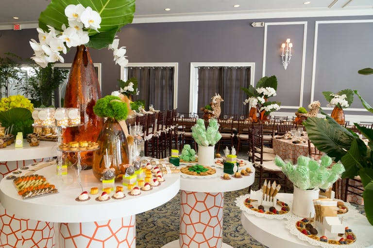 Animal-Themed Baby Shower With Giraffe-Patterned Tables   PartySlate
