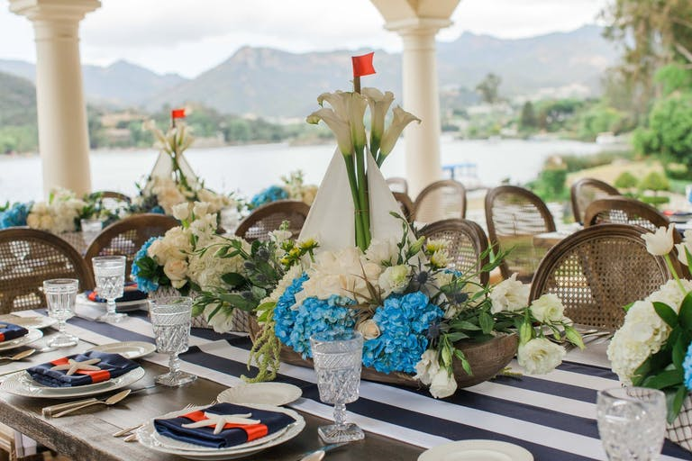 Baby Shower With Sail Boat Centerpieces   PartySlate