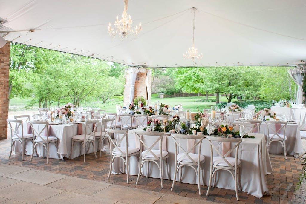 Tent Wedding at Chicago Botanic Gardens | PartySlate