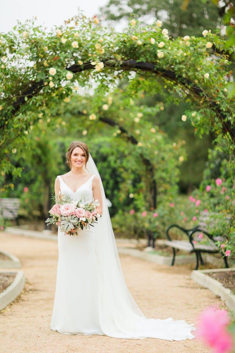 Bride at McGovern Centennial Gardens, an Outdoor Wedding Venue in Houston | PartySlate