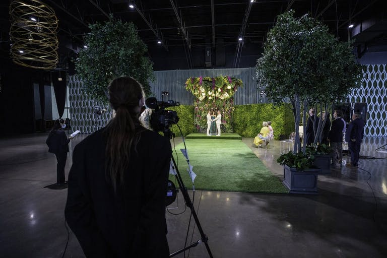 An intimate wedding was virtually recorded   PartySlate