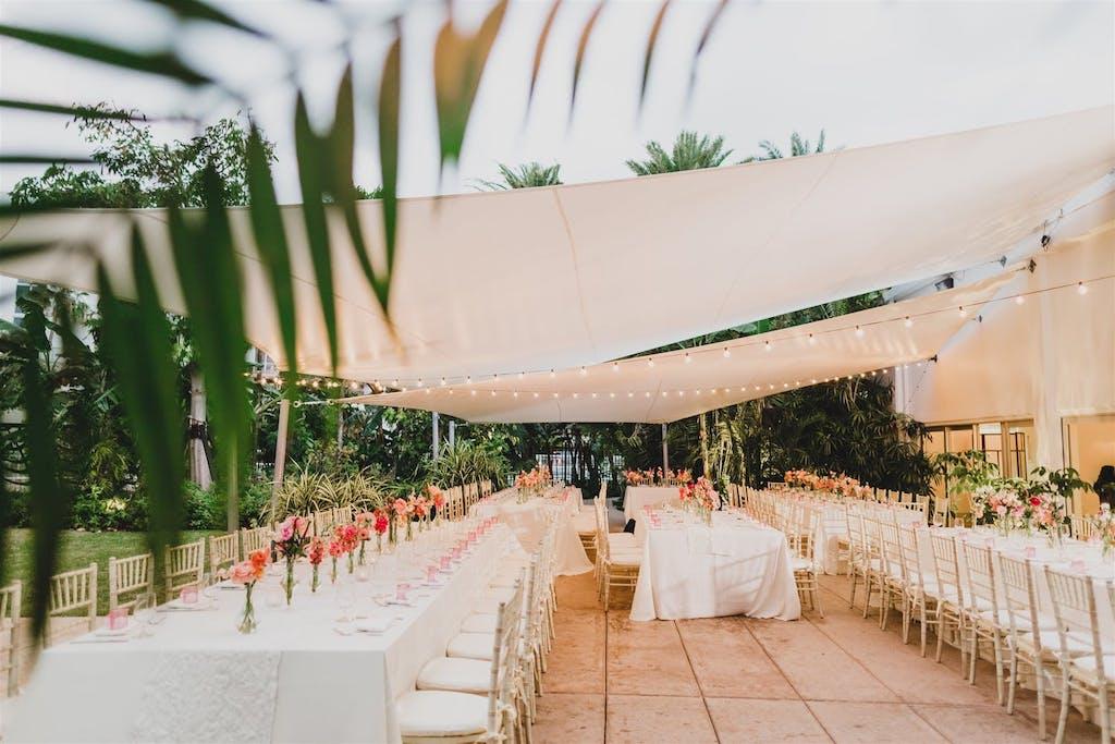 Unique Tented Tropical Wedding | PartySlate