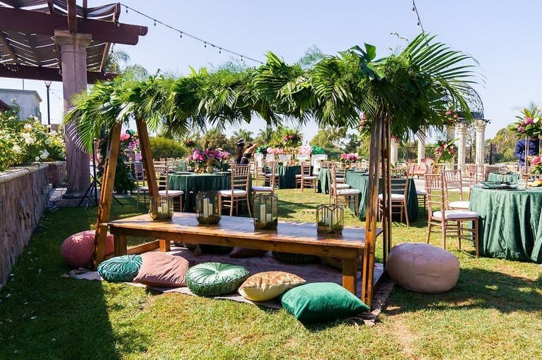 Outdoor Tropical-Themed Boho Baby Shower   PartySlate