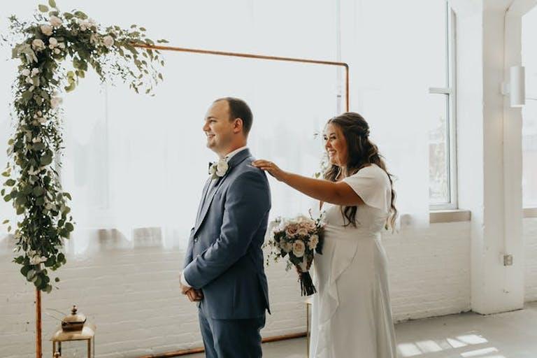 Bride reveal at elegant micro wedding   PartySlate