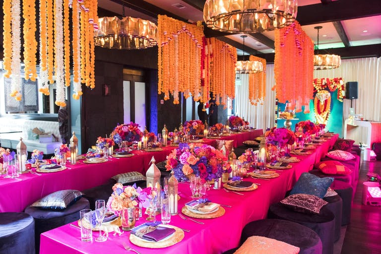 South Asian Baby Shower With Pink, Purple, and Orange Décor   PartySlate
