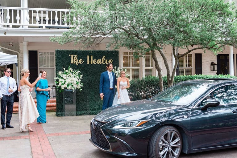 A micro wedding that had friends and family drive by and show their love   PartySlate