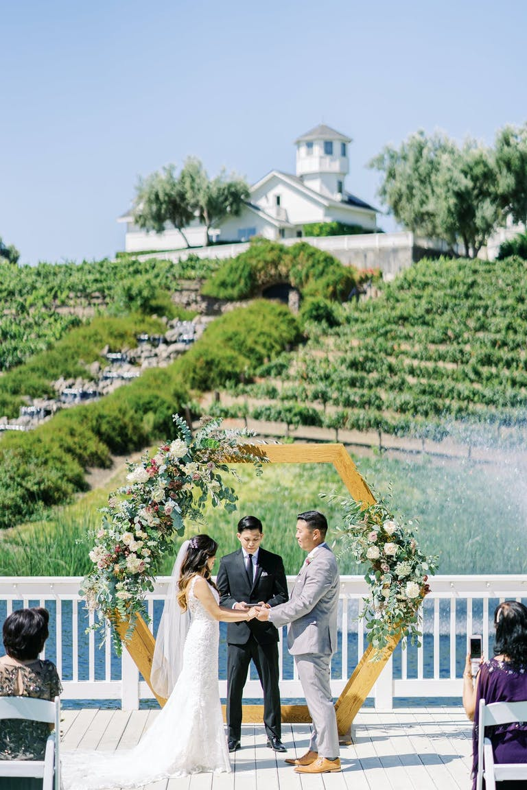 Micro wedding with a view of a California vineyard   PartySlate