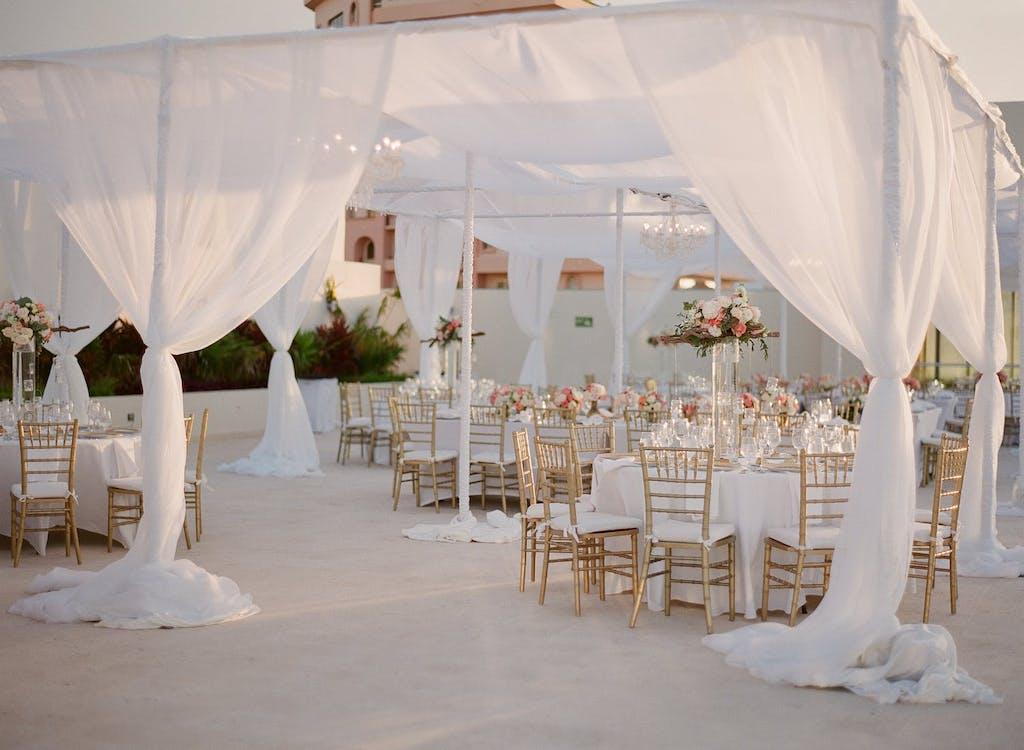 Cabana-Style White Wedding Tent | PartySlate