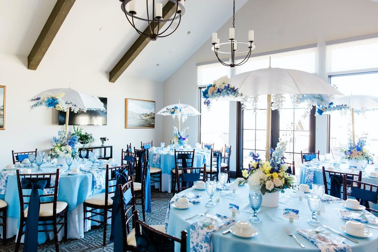 Blue-Toned Baby Shower With Rain Theme | PartySlate