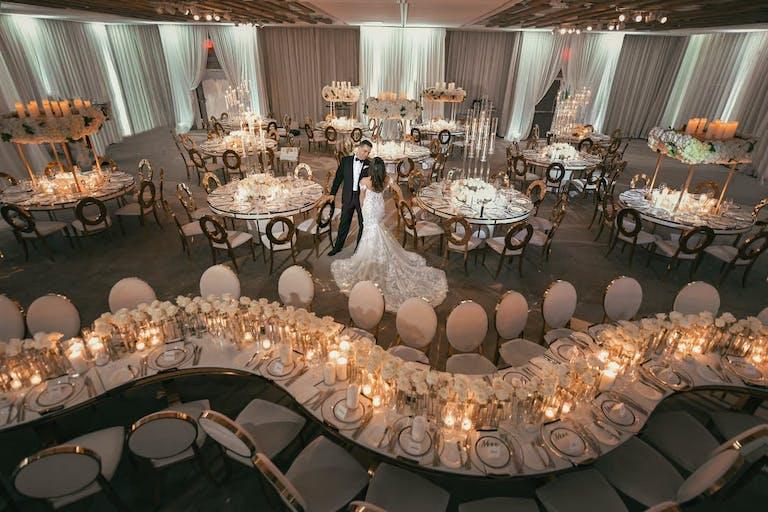 Glamorous indoor beach wedding venue   PartySlate