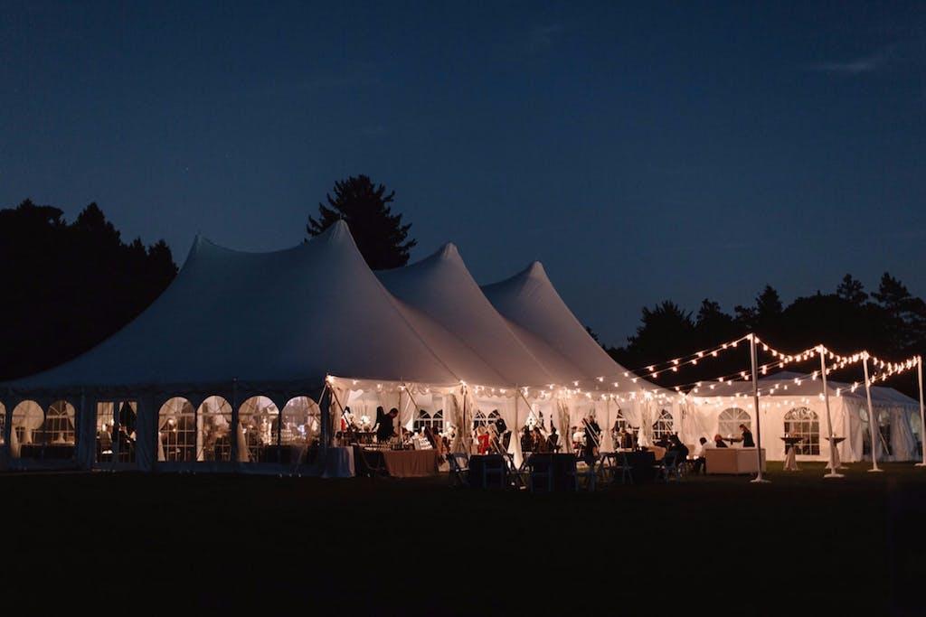 Romantic White Tented Wedding