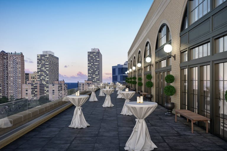 Cocktail Party on Rooftop Terrace at The Penthouse Hyde Park | PartySlate