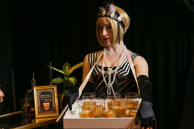 1920's Themed Party With Flapper Girls Handing Out Prohibition Inspired Cocktails | PartySlate