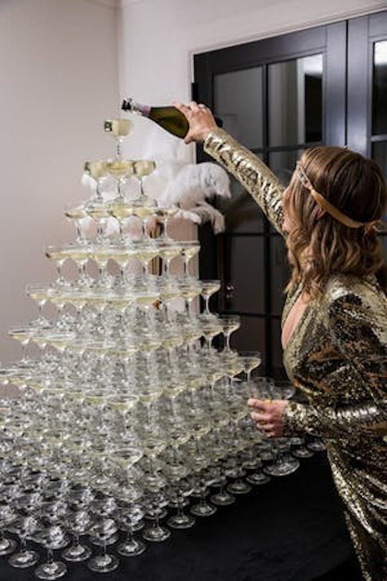Great Gatsby Themed Party Complete With a Champagne Tower | PartySlate