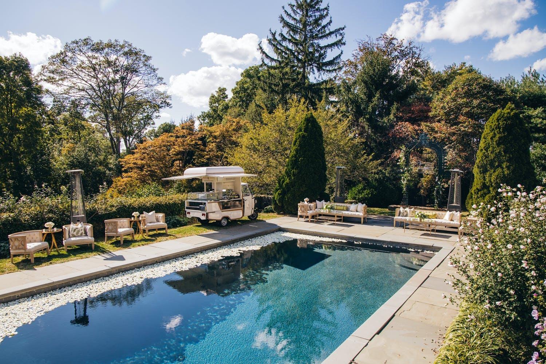 Poolside, Italian-Themed Backyard 40th Birthday Bash | PartySlate