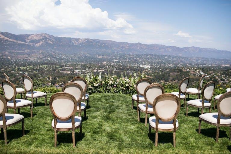 Socially Distanced Outdoor Wedding With Mountain Top Views   PartySlate