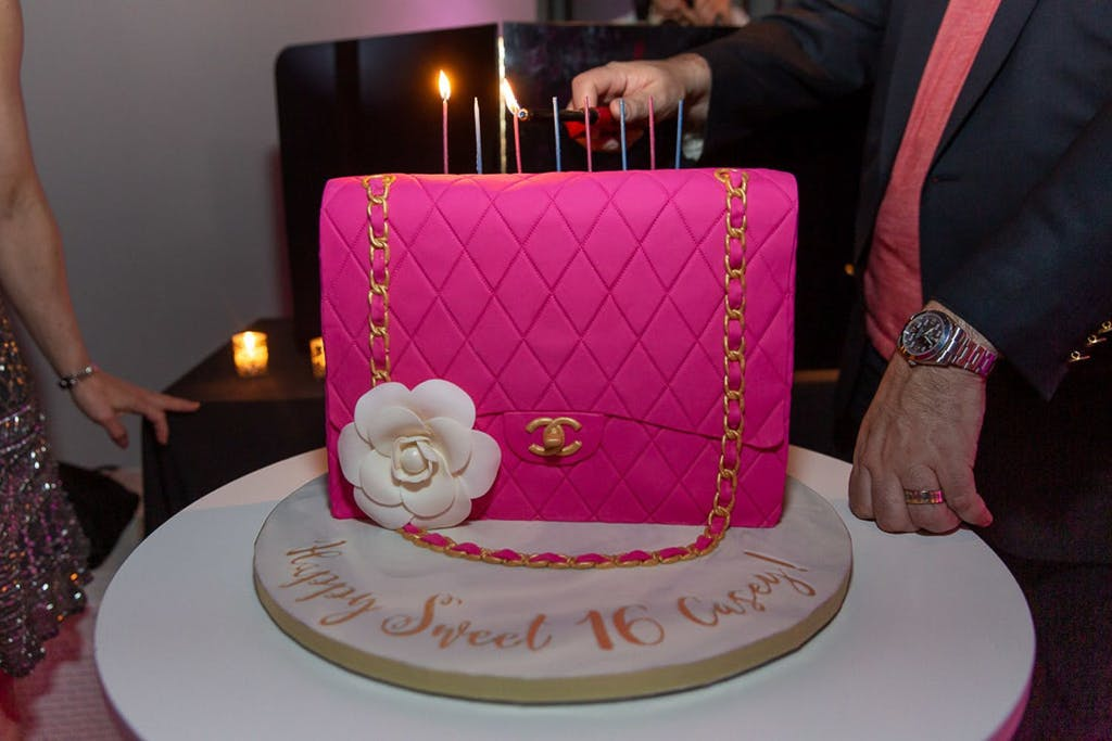 Pink Quilted Chanel Sweet 16 Birthday Cake | PartySlate