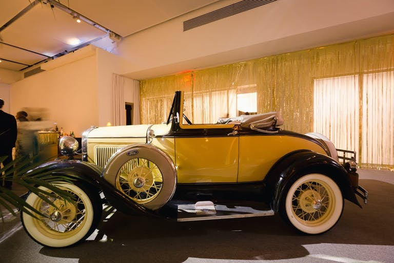 A Great Gatsby Party With a Stunning, Retro, Yellow Car | PartySlate