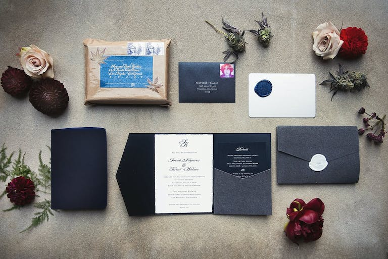 Cannabis-Themed Wedding Invitation Suite | PartySlate