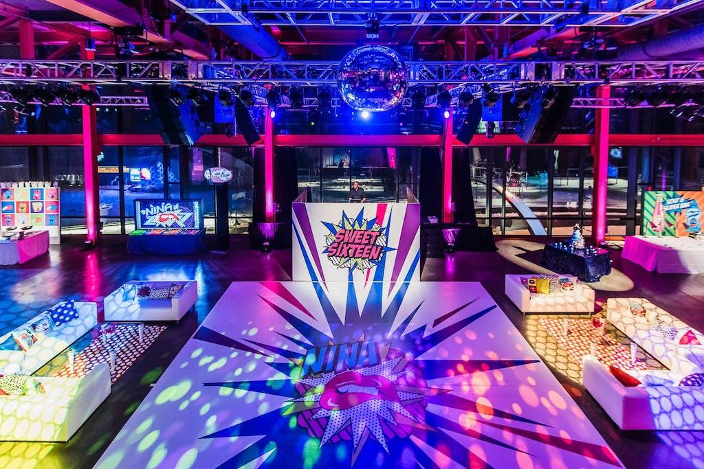 Retro Pop Sweet 16 Theme Party | PartySlate