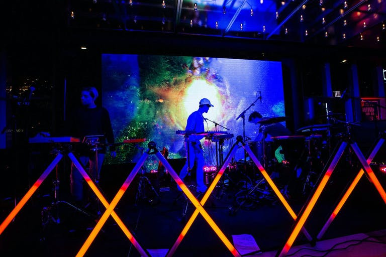 Neon Lighting Stage Installation for