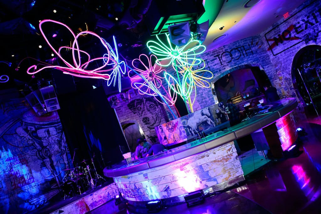 Glow-in-the-Dark Themed Sweet 16 Party With LED Flower Art | PartySlate
