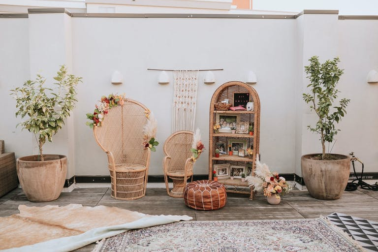 Boho-Themed 40th Birthday Party on Rooftop | PartySlate