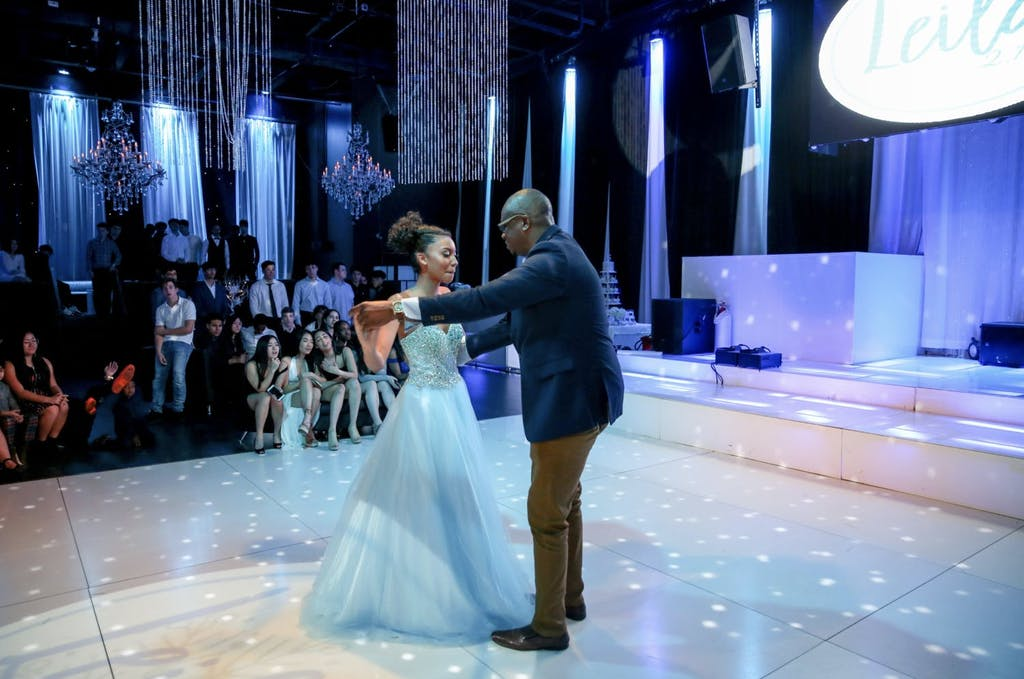 Father-Daughter Dance at Frozen-Themed Sweet 16 Party | PartySlate